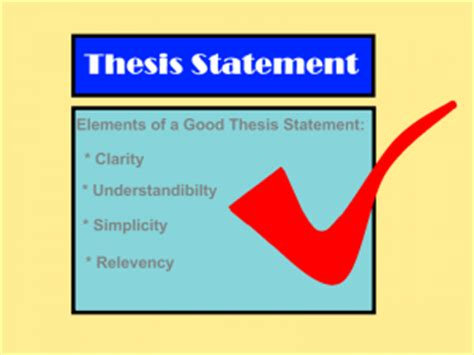 How to construct a thesis paper